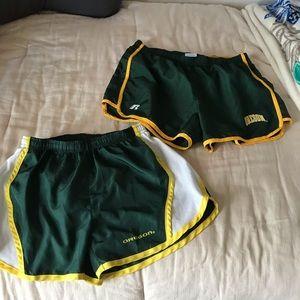 Oregon running shorts